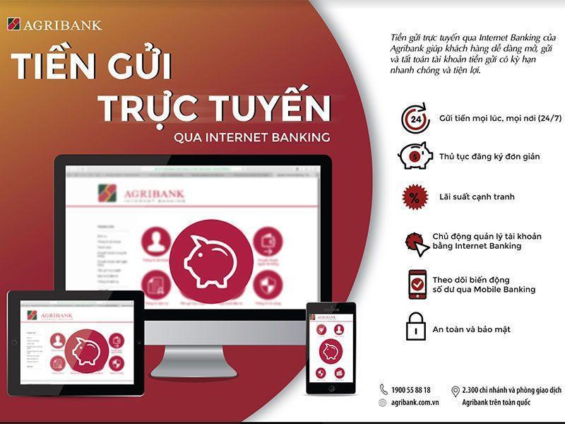 Tiền gửi trực tiếp qua Internet Banking Agribank