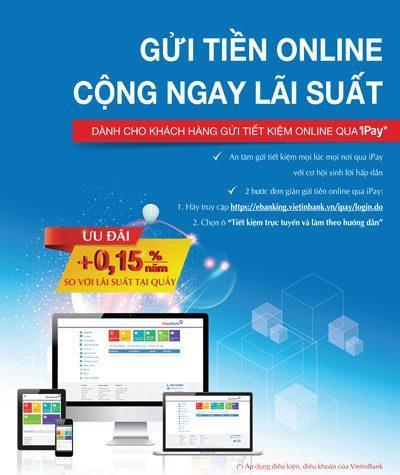 Tiết kiệm trực tuyến Vietin Bank