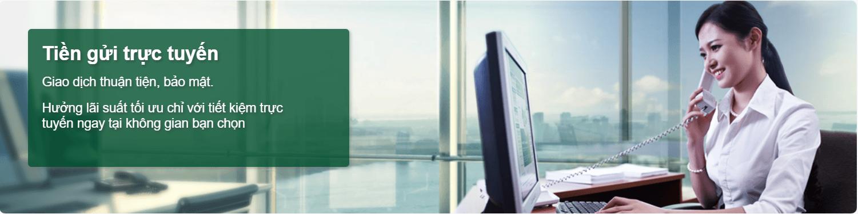 Tiền gửi trực tuyến Ngân hàng Vietcombank